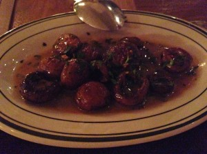 Mushrooms at Vera in Chicago