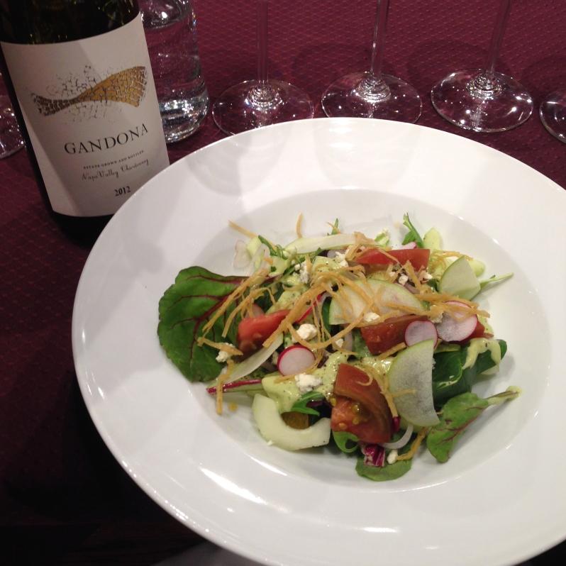 Gandona Chardonnay Salad Pairing