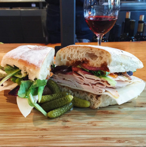 Roast Turkey with wine at Oxbow Cheese & Wine Merchant